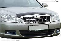 Дефлектор на капот (мухобойка) для Škoda Oсtavia A5 2010-2012