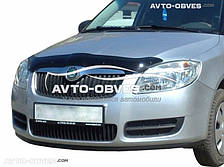 Дефлектор на капот (мухобойка) для Škoda Fabia 2007-2009