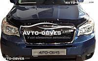 Дефлектор на капот (мухобойка) Subaru Forester 2012 - 2017
