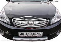 Дефлектор на капот (мухобойка) для Subaru Legacy 2009 - 2014