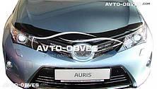 Дефлектор на капот (мухобойка) для Toyota Auris 2012-…