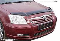 Дефлектор на капот (мухобойка) для Toyota Avensis 2003-2008