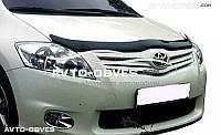 Дефлектор на капот (мухобойка) для Toyota Auris 2009 - 2012
