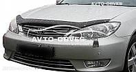 Дефлектор на капот (мухобойка) для Toyota Camry 2002-2003 с вырезом