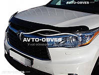 Дефлектор на капот (мухобойка) для Toyota Highlander 2014-2017