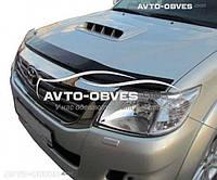 Дефлектор на капот (мухобойка) для Toyota Hilux