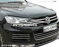 Дефлектор на капот (мухобойка) для Volkswagen Touareg 2010 - 2017
