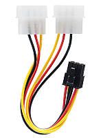 Адаптер HQ_Tech PCI-E 2xMolex-6Pin для питания видеокарт PCI-E