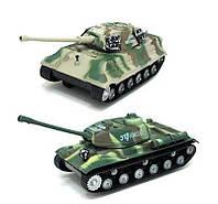 Танк 387-8, в кульке 2 танка, инерционные, суперподарок мальчишке для игр, кулек 19,5*50*9 см