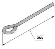Спиця з петлею (вушком) 500 мм. Україна (Тяга підвісу)