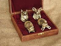Чарки бронзовые в кейсе