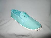 Спортивная обувь оптом подростковая, полукеды, 31-36 размер, мятный цвет