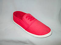 Спортивная обувь оптом подростковая, полукеды, 31-36 размер, красный цвет