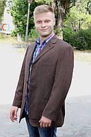 Красивый мужской пиджак коричневого цвета, р.48