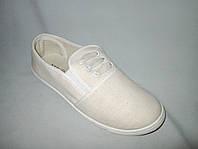 Спортивная обувь оптом подростковая, полукеды, 31-36 размер,  молочный цвет