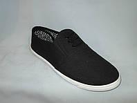 Спортивная обувь оптом подростковая, полукеды, 31-36 размер,  черный цвет