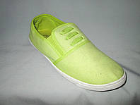 Спортивная обувь оптом подростковая, полукеды, 31-36 размер,  салатовый цвет