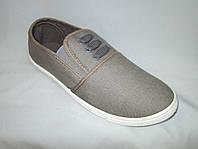 Спортивная обувь оптом подростковая, полукеды, 31-36 размер,  темно-серый цвет