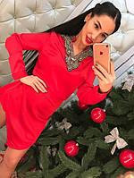 Платье-туника женское из искусственного шелка