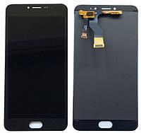 Дисплей (экран) + сенсор (тач скрин) Meizu M3 Note black (оригинал, версия M681h)