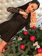 Женское модное жаккардовое платье (4 цвета) ментол, L