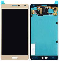 Дисплей (экран) + сенсор (тач скрин) Samsung Galaxy A7 SM-A700H gold (rev.0.1) (оригинал)