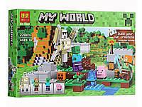 """Конструктор Bela аналог LEGO 21123 Minecraft """"Железный голем"""" 220 деталей арт. 10468"""