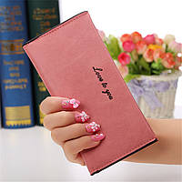 Новинка! Модный женский кошелек, бумажник с отделениями для кредитных карточек, цвет - розовый