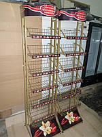 Стойки торговые металлические бу, Сетки напольные бу, при кассовая зона