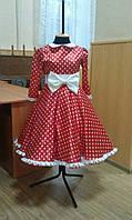 Платье  - Горошки  красные