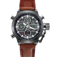 Мужские армейские часы AMST 3003 Темные Темный