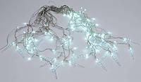 Гирлянда Занавес, 600*70см, 120 LED (белые), постоянное свечение, с украшением на лампочку Сосулька.