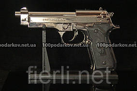 Зажигалка пистолет Беретта M-9 большой