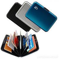 Кейс для кредитных карт Alluma Wallet, бумажник алюминиевый для кредиток Алюма Уоллет