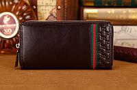 Мужской кошелек Gucci (306705) brown SR-424