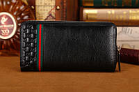 Мужской кошелек Gucci (306705) black SR-425