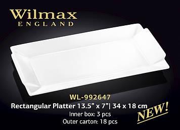 Блюдо прямокутне Товарwilmax WL-992647 34*18 см