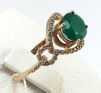 Кольцо с хризопразом золото 585 проба