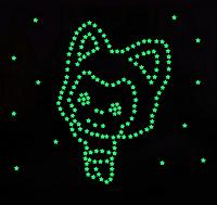 3D светящие звезды в темноте! Декоративные наклейки на стену/потолок!