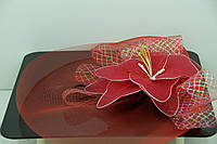 Украшения на голову RRR. Алая лилия - вуаль на карнавал. 48
