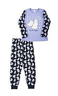"""Теплая пижама для девочки """"Привидение"""" 104"""