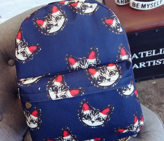 Стильный городской рюкзак с котиками