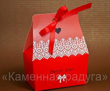 """Коробка """"Бонбоньерка-принцесса"""", цвет красный"""
