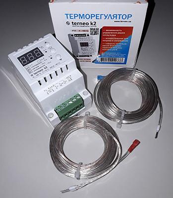 Двоканальний термостат для теплої підлоги Terneo K2