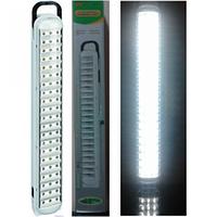Лампа-фонарь светодиодная yj- 6825, led-панель, питание аккумуляторное 1800 ма/ч, заряжается от 220v