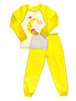Пижама для девочки Niso Baby Месяц желтая (рост 110см)