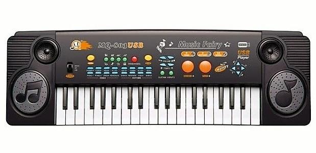 Орган MQ 803USB, 37 клавиш, USB-порт, 22 мелодии, 8 ритмов, голоса животных, микрофон, отличный подарок детям