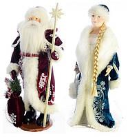 Набор Дед Мороз и Снегурочка украшения под елку 50см, фото 1