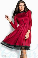 Платье в строгом стиле с кружевом S M L