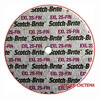 3M 09835 XL-UW - Прессованный круг Scotch-Brite™ 152,4х12,7х6,35 мм, 2S FIN, для прямых и угловых шлифмашин